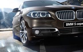 Картинка бмв, BMW, 5 series, Touring, туринг, F11, 2015