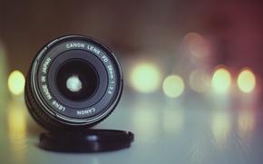 Обои light, lens, bokeh, Canon, globes