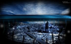 Картинка вода, синий, город, океан, астана, казахстан