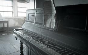 Обои ноты, пианино, музыка