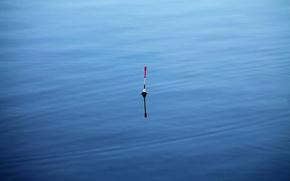 Картинка вода, рыбалка, поплавок, синий.