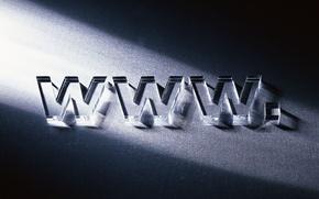 Обои буквы, стекло, Интэрнет, www