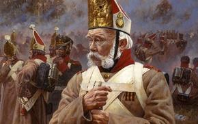 Картинка war, history, uniform, Napoleon, a Veteran, old soldier