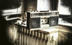 Картинка радио, приёмник, касетник