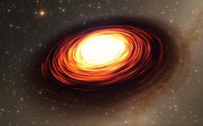 Картинка компактный, в центре, Млечного Пути, находящийся, радиоисточник, Sagittarius A