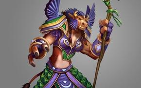 Картинка wow, world of warcraft, таурен, друид, druid, Орда, tauren, Horde
