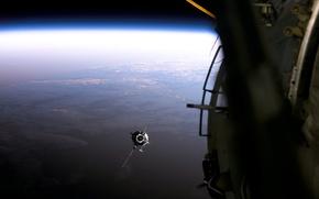 Картинка Облака, Горизонт, Земля, Спутник