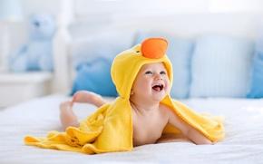 Картинка радость, улыбка, ребенок, полотенце, младенец, child, infante