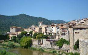 Картинка мост, река, Испания, Бесалу