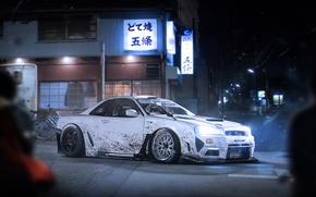 Картинка Japan, Nissan, Car, White, Skyline, Tuning, Future, Sport, R34, by Khyzyl Saleem