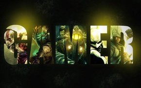 Картинка надпись, wallpaper, BioShock 2, Dead Space, god of war, Kratos, gamer, Batman: Arkham City, Assassin's …