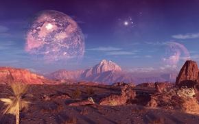 Картинка небо, горы, скалы, планета, terraspace