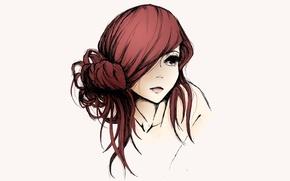 Картинка девушка, арт, Эльза, Fairy Tail, красные волосы, Erza