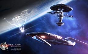 Картинка planet, spaceships, relief of velend haas