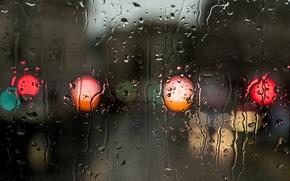 Картинка вода, капли, поверхность, дождь, цвет
