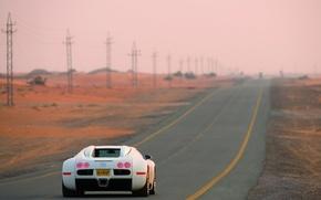 Картинка veyron, White, Road, centenaire