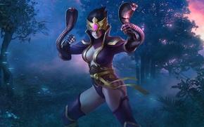 Картинка змеи, девушка, игра, ниндзя, кобры, Juggernaut Wars, Ninja Meego
