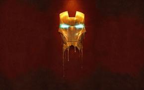 Картинка металл, золото, человек, маска, железный, man, жидкий, iron