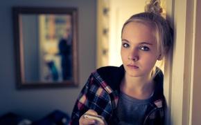 Картинка взгляд, портрет, iphone, teen girl
