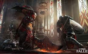 Картинка обломки, магия, меч, щит, рыцарь, Games, Lords of the fallen