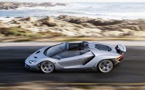 Обои Roadster, Lamborghini, supercar, дорога, speed, Centenario, побережье, car, авто