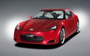 Обои красный, FT-86, Toyota, концепт
