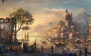 Обои venetian, anno 1404, city, lowres