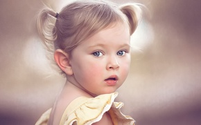 Картинка портрет, девочка, Bright Eyes, Tonya Freeland