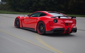 Картинка Скорость, Феррари, Зад, Ferrari, Speed, Berlinetta, F12, Novitec Rosso, N-Largo