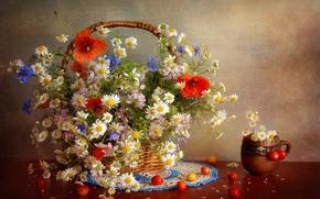 Обои цветы, flowers, натюрморт, bouquet, букет, still life