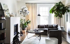 Картинка дизайн, интерьер, камин, гостиная