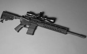 Картинка оружие, фон, AR-15, штурмовая винтовка