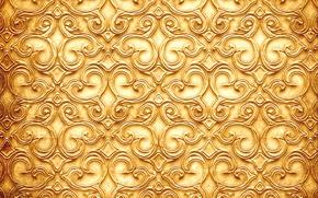 Картинка узор, текстура, веточки, золотистый цвет