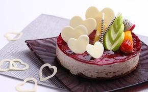 Картинка клубника, cake, десерт, сладкое, chocolate, mousse