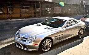 Обои дорога, серый, Mercedes, диски