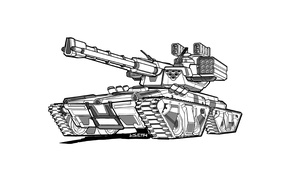 Картинка futuristic, heavy weapons, tank