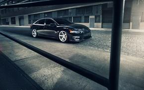 Картинка Nissan, black, ниссан, frontside, Altima