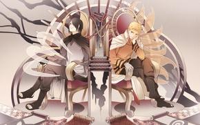 Картинка аниме, арт, парни, Саске, Наруто, Naruto
