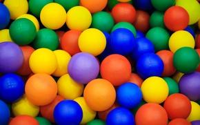 Обои шарики, цветные, много, шары