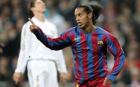 Картинка футбол, barca, найк, nike, football, реал, Барселона, Барса, barcelona, мадрид, Ronaldinho, Роналдиньо, класико