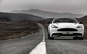 Обои 2014, aston martin, vanquish, carbon white, uk-spec