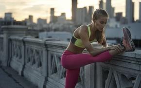 Обои jogging, fitness, running, sportswear, healthy lifestyle, elongation