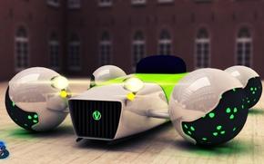 Картинка машина, будущее, магнитные подушки