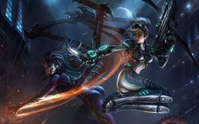 Картинка Nova, Kerrigan, StarCraft 2 Heart of the swarm, Nova vs. Kerrigan