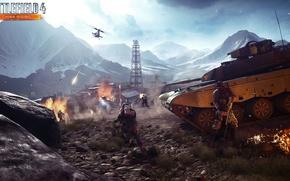 Картинка танк, снайпер, Battlefield 4, China Rising, алтайский хребет