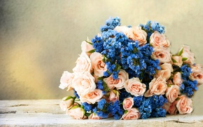 Картинка фон, розы, букет, flowers, bouquet, roses