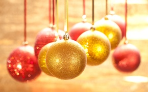Картинка украшения, ленты, праздник, шары, блеск