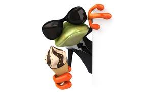 Картинка character, frog, funny, ice cream