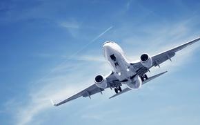 Картинка небо, полет, самолет, высота