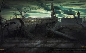 Картинка самолёт, календарь, survarium